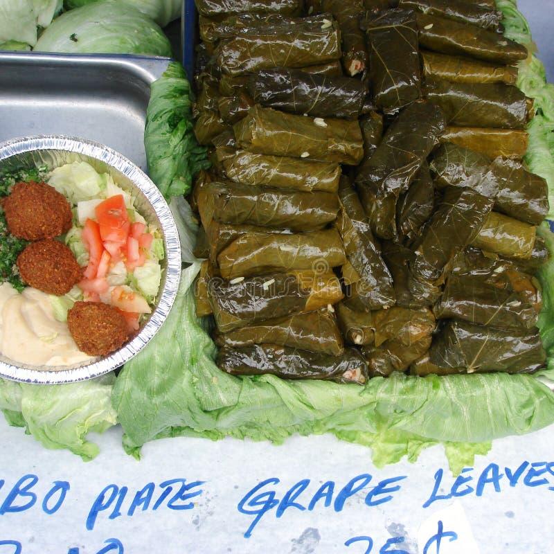 Dolmades et nourriture libanaise photos stock