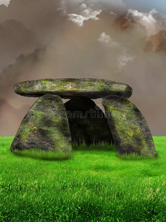 Download Dolmen illustration stock. Illustration du stupéfier, antique - 8661894