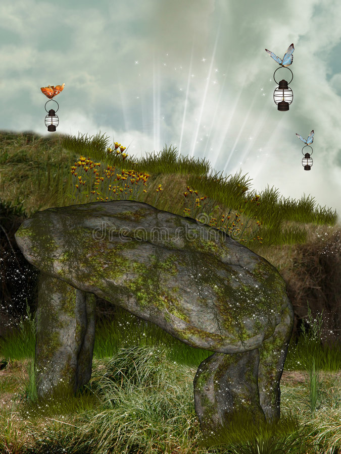 Download Dolmen illustration stock. Illustration du contextes, enfants - 8662542