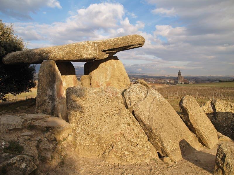 Dolmen antico in Rioja immagine stock libera da diritti
