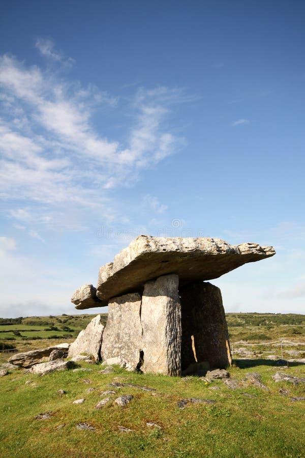 Dolmen, Burren, Irlandia zdjęcie royalty free