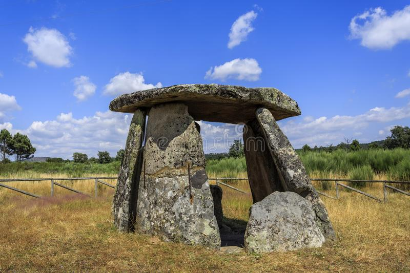Dolmen de Matanca or Dolmen of Slaughter stock image