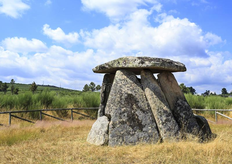Dolmen de Matanca or Dolmen of Slaughter royalty free stock image