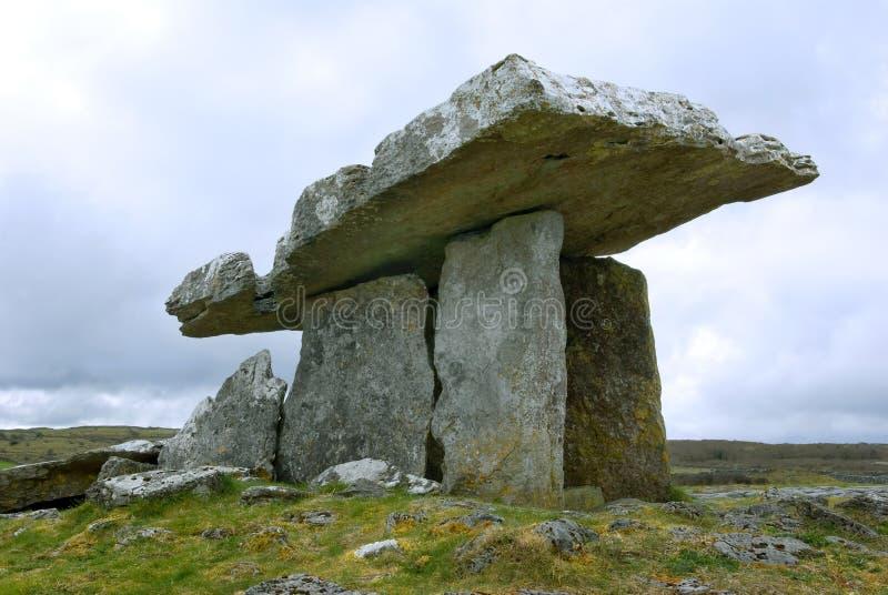 Dolmen de Poulnabrone, Irlanda foto de archivo