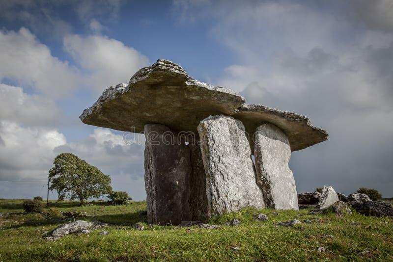 Dolmen de Poulnabrone, Irlande images libres de droits