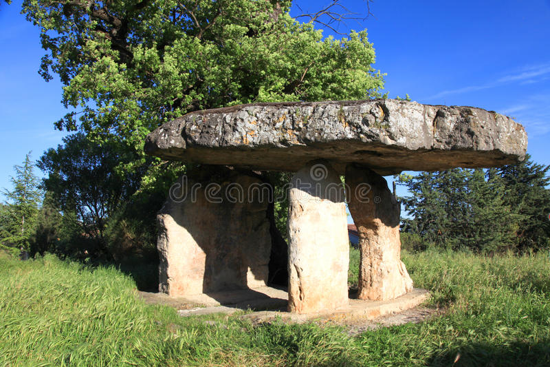 Dolmen, de Provence, Frankrijk stock afbeeldingen