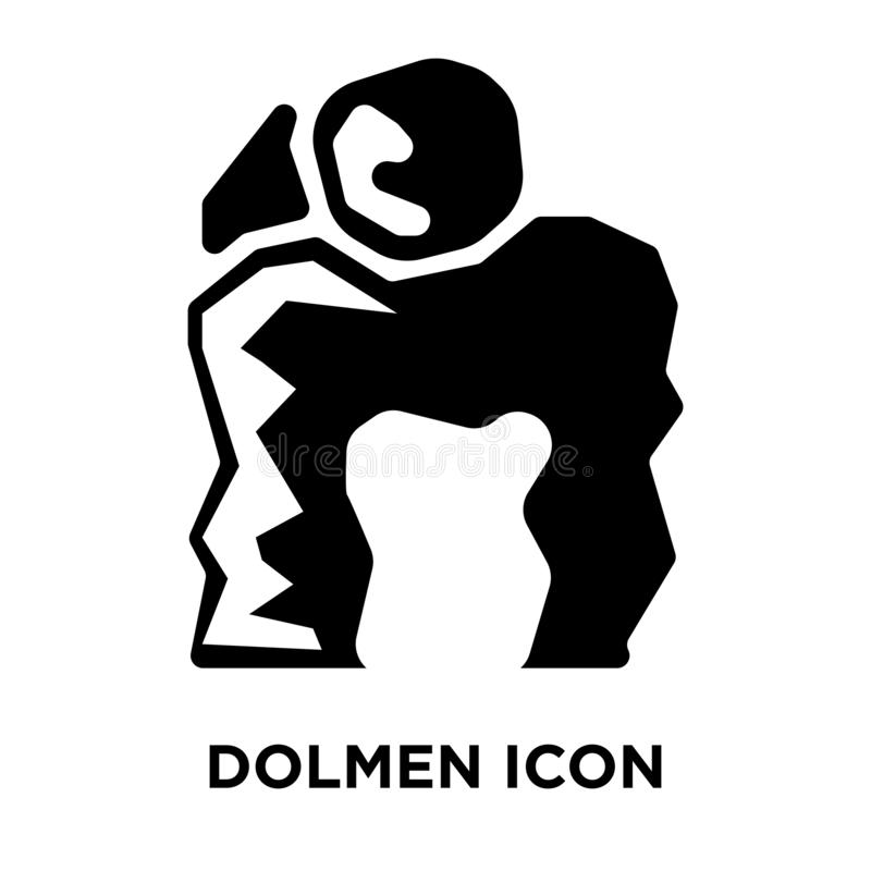 Dolmen icon vector isolated on white background, logo concept of royalty free illustration