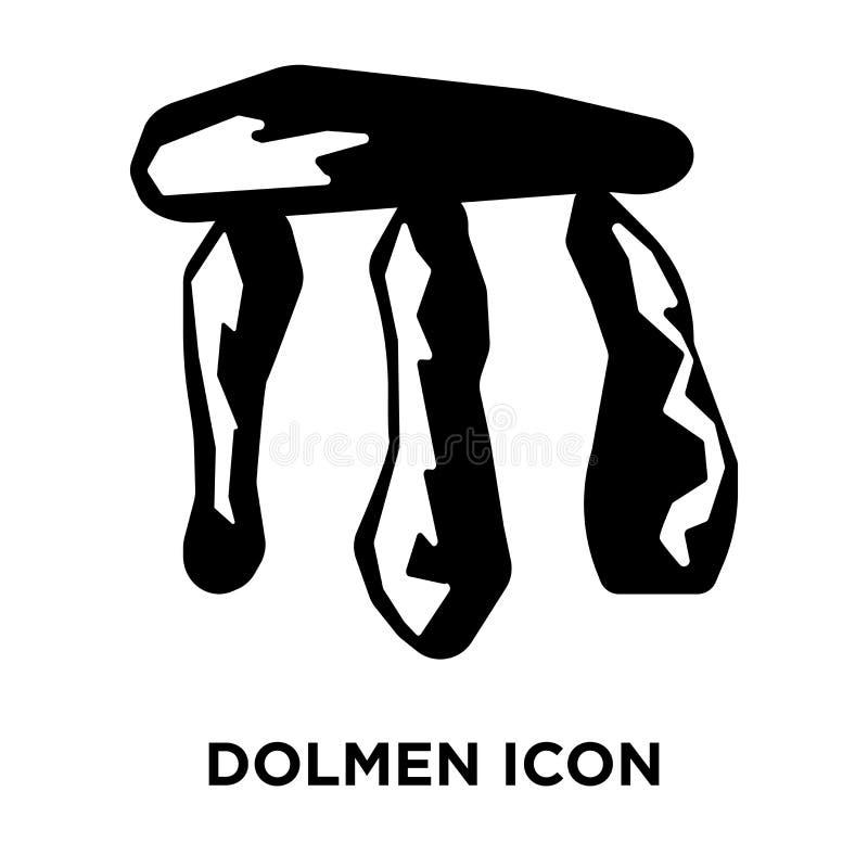 Dolmen ikony wektor odizolowywający na białym tle, loga pojęcie royalty ilustracja