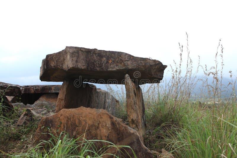 Dolmen-Marayoor Kerala royalty-vrije stock afbeeldingen