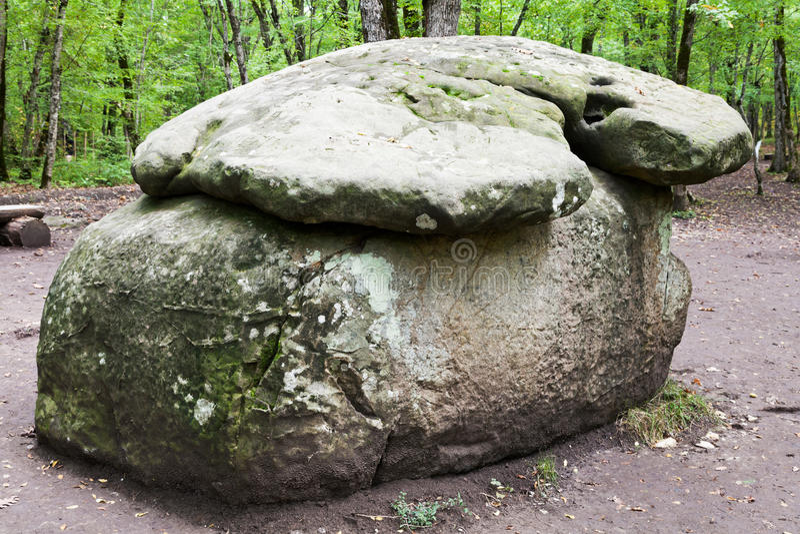 Dolmen - monument of prehistoric architecture stock images