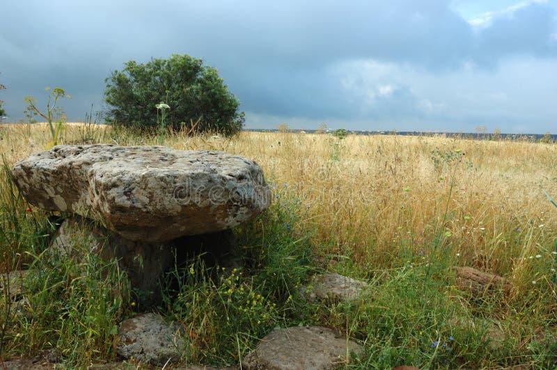 Dolmen - monumento da arquitetura neolithic, Israel imagem de stock