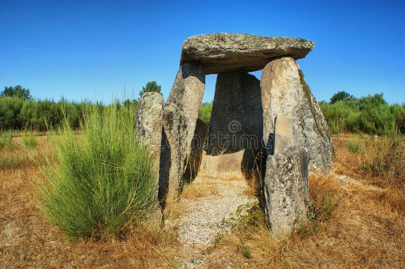 Dolmen Pedra da Orca em Gouveia. Portugal stock photos