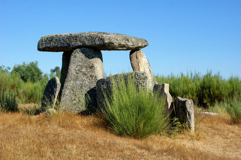 Dolmen Pedra da Orca em Gouveia. Portugal royalty free stock photo