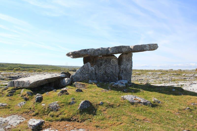 Dolmen Poulnabrone που βρίσκεται στο Burren στοκ φωτογραφία με δικαίωμα ελεύθερης χρήσης