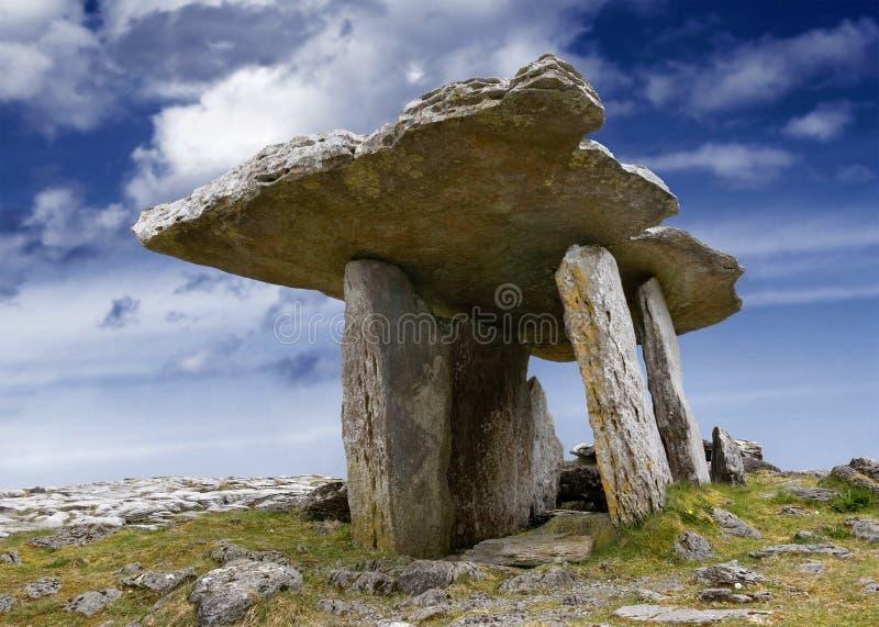 dolmen poulnabrone στοκ εικόνες