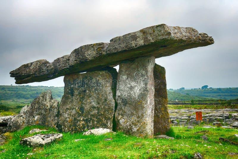 Dolmen, Poulnabrone, Irlandia zdjęcia royalty free