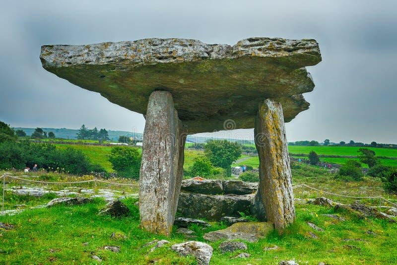 Dolmen, Poulnabrone, Irlandia obraz royalty free