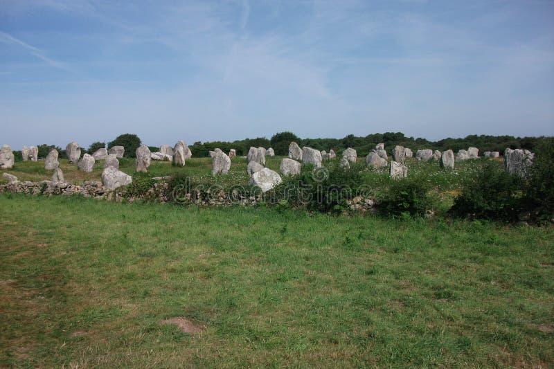 Dolmeny i Menhirs Bretagne, Francja Carnac (,) obraz stock