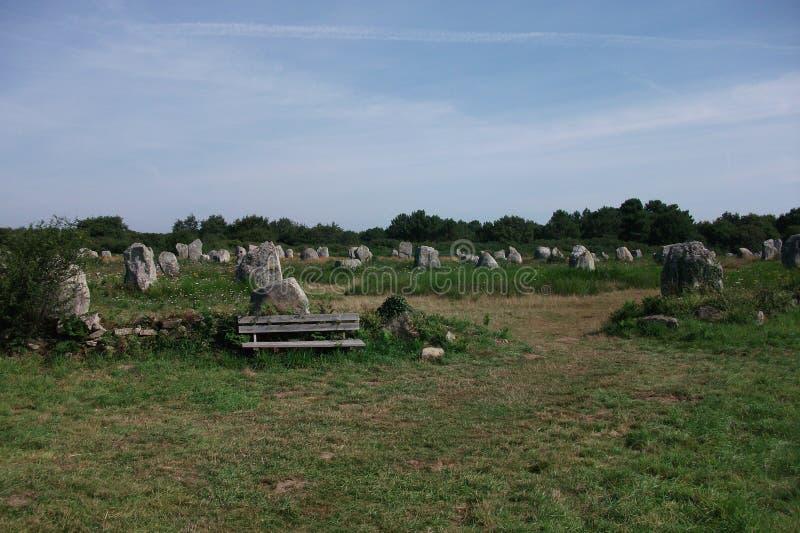 Dolmeny i Menhirs Bretagne, Francja Carnac (,) obrazy royalty free