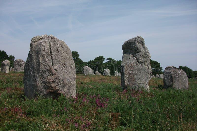 Dolmeny i Menhirs Bretagne, Francja Carnac (,) zdjęcie stock