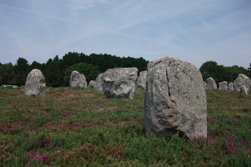 Dolmeny i Menhirs Bretagne, Francja Carnac (,) obraz royalty free