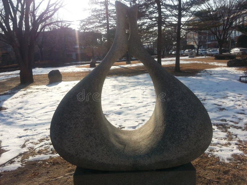 Dolmeny Korea: Ampuła kamień z dziurą obrazy stock