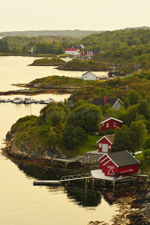 Dolmoy, Hitra - Noorwegen stock fotografie