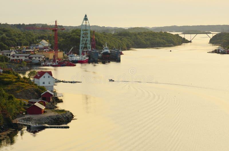Dolmoy, Hitra - Norvège photographie stock libre de droits