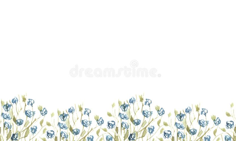 Dolna granica wildflowers zdjęcia stock