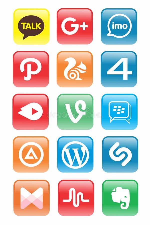 Dolna, Ogólnospołeczna Medialna ikony aktualizacja/ ilustracja wektor