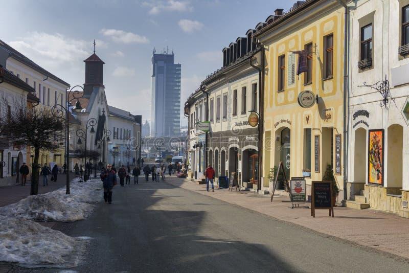 Dolna ulica street in Banska Bystrica stock photography