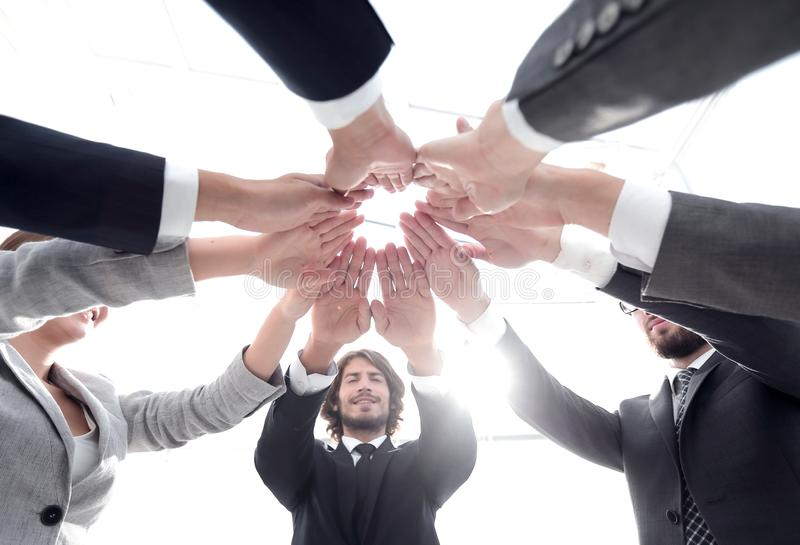 Dolny widok Fachowa biznes drużyna zdjęcie stock