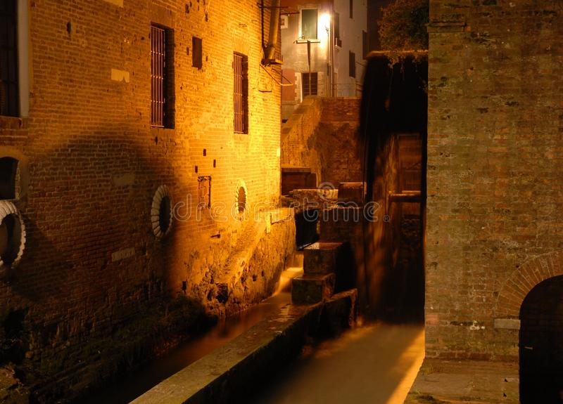 Dolo nella provincia di Venezia immagini stock