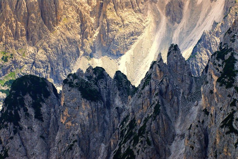 Dolomías de Cadini di misurina imagen de archivo