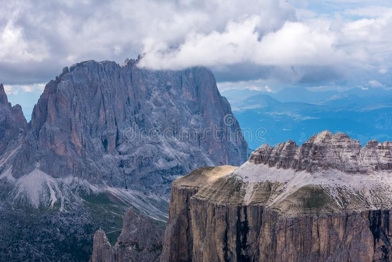Dolomiet Itali? - Val Gardena - Passo Sella royalty-vrije stock foto