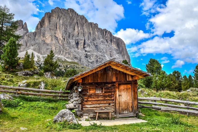 Dolomiet Itali? - Val Gardena - Passo Sella royalty-vrije stock fotografie
