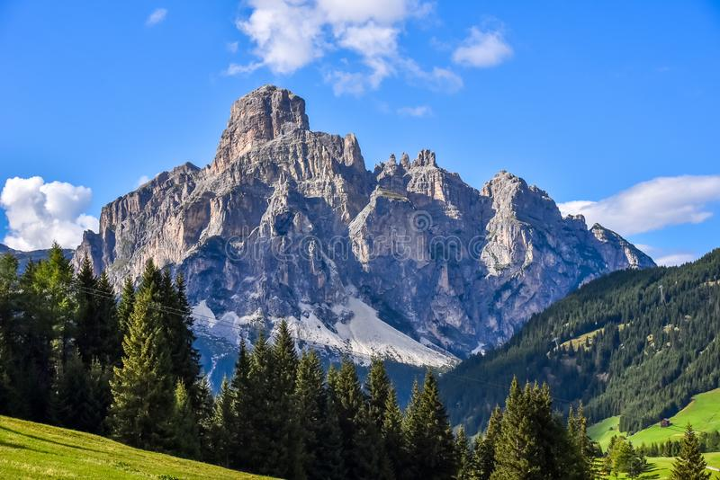Dolomiet Itali? - Val Gardena - Passo Sella stock foto's