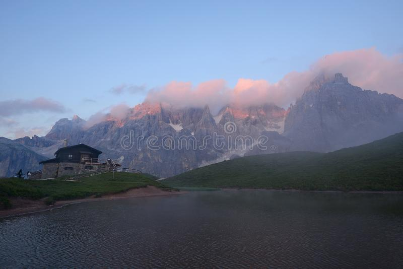Dolomietberg in Italië royalty-vrije stock afbeeldingen