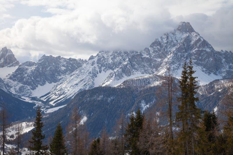 Dolomitów Alps Włochy, Sexten, - Sesto, Puster dolina, Południowy Tyrol fotografia royalty free