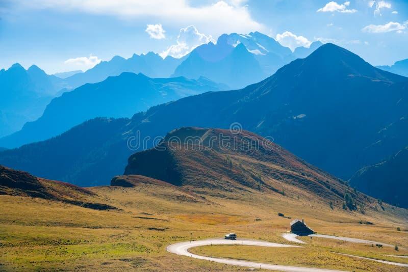 Dolomit Sommeransicht Passo Giau, Italien, Europa lizenzfreie stockfotografie