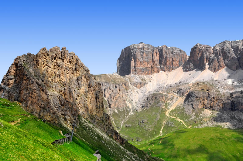 Download Dolomite peaks,Sella stock image. Image of group, italy - 29643659