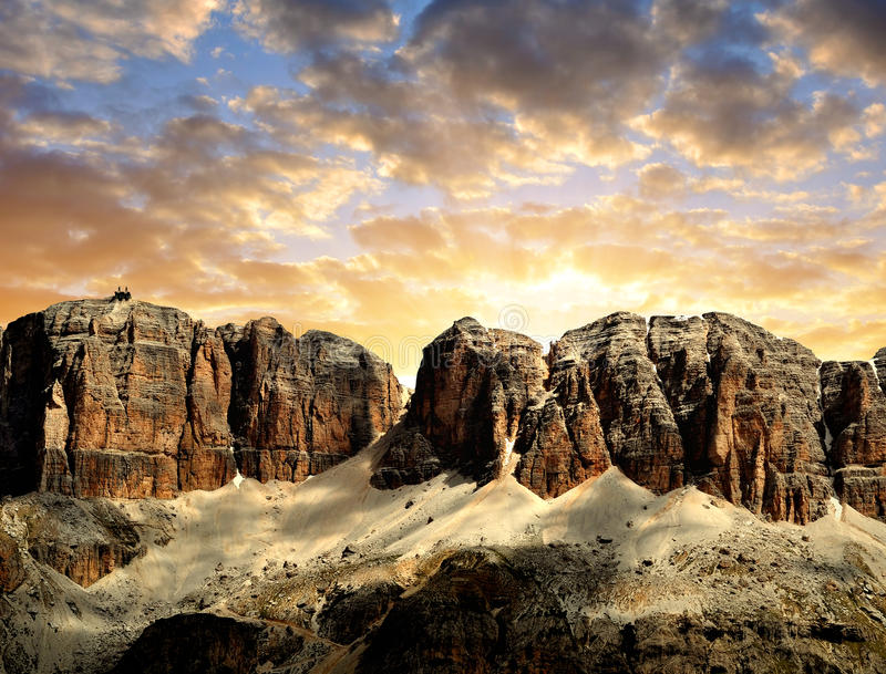 Download Dolomite peaks,Sella stock image. Image of europe, alps - 41300207