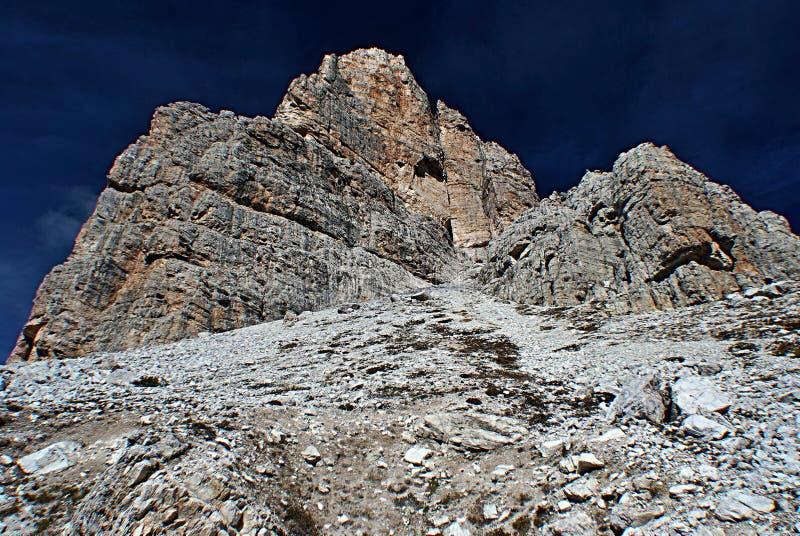Dolomites Averau maximal photo libre de droits