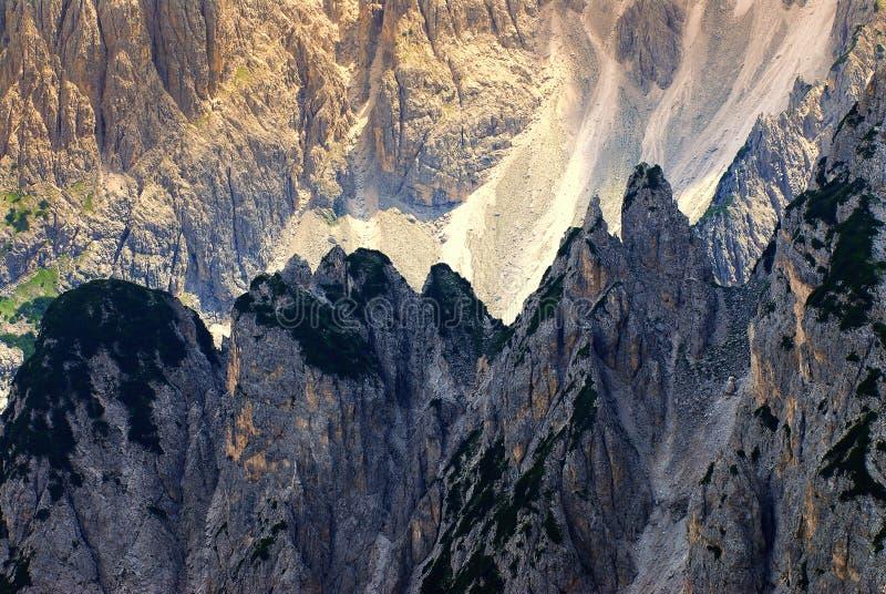 Dolomites de Cadini di misurina imagem de stock