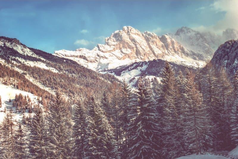Dolomites italiennes d'hiver, Italie images libres de droits