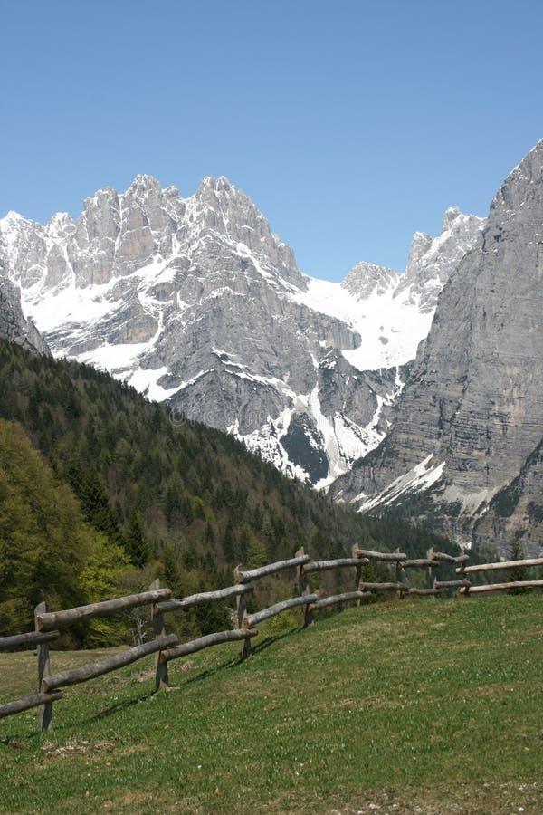Dolomites landscape royalty free stock photo