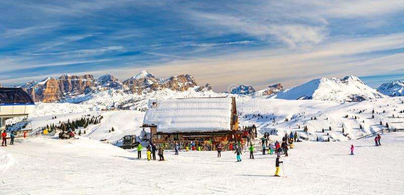 Dolomites landscape panorama zimą, Włochy obraz royalty free