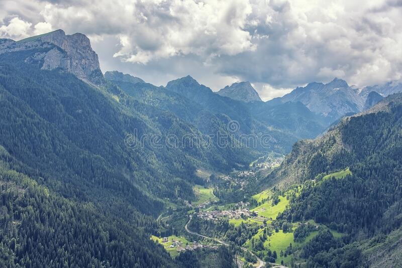 Landscape in the italian Dolomites royalty free stock images