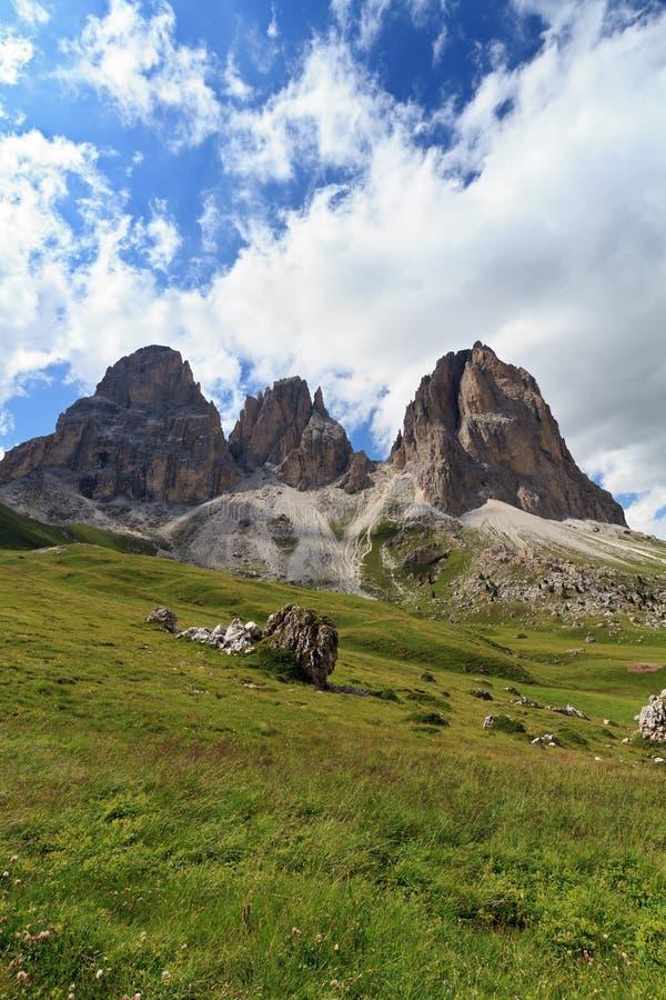 Dolomites - Langkofel Mountain Royalty Free Stock Photos