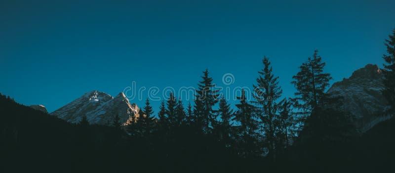 Val di Fassa Dolomites landscape, Canazei. Dolomites- mountain landscape, Val di Fassa, wide view, Canazei royalty free stock photos